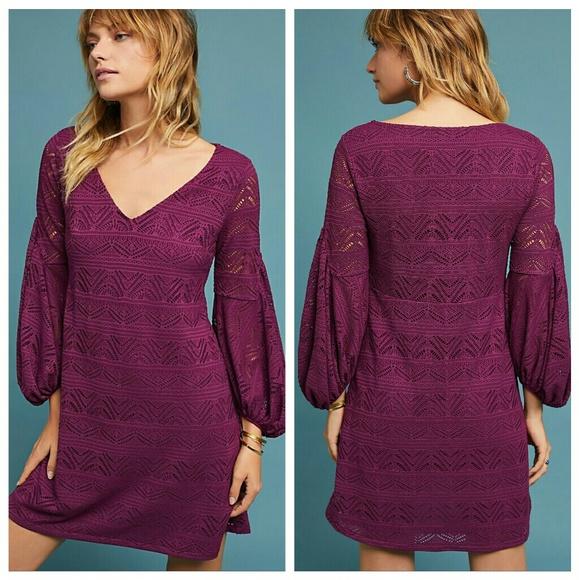 6ee9ba72f22d Anthropologie Dresses | Maeve Laila Lace Purple Dress Large | Poshmark